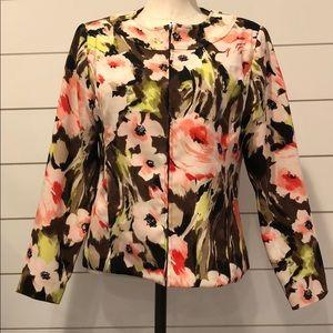 Molly &Maxx floral zipper front jacket